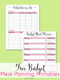Meal Budget Planner Five Ways To Start Meal Planning On A Budget With