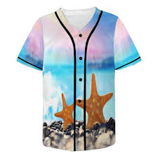 InterestPrint <b>Mens Shirt</b> Funny Starfish Character <b>Summer Casual</b> ...