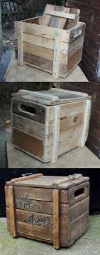 Rustic reclaimed wooden chest, made from scratch out of bits of pallet  wood, progress