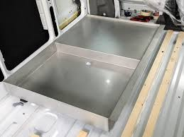 campervan bathroom part 1 shower tray made of stainless steel