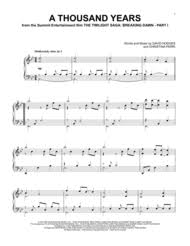 a thousand years piano sheet music download digital sheet music of christina perri for piano solo