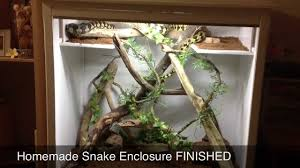 diy snake enclosure finished