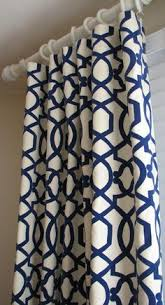 Navy Blue Patterned Curtains Delectable Navy Blue Patterned Curtains Google Search Living Room