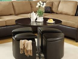 coffee table with ottomans underneath canada