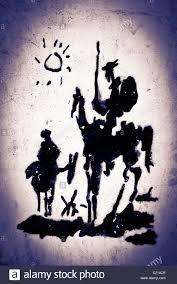 graffiti of the unknown artist don quixote de la mancha sancho panza rocinante
