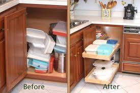 Image of: Corner Kitchen Cabinet Storage Organizer