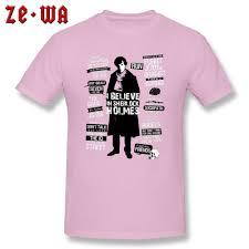 Sherlock Holmes T Shirt Men Cotton Tshirt Detective Quotes T Shirt Red John Watson Baker Street 221b England Style Tops Tees