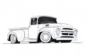 12 photos of the pencil drawings of trucks
