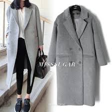 2019 light grey wool coats autumn winter 2018 women peacoats grey twill from cety 134 08 dhgate com