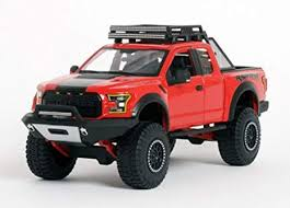 Amazon.com: Ford 2017 F-150 Raptor Pickup Truck Red Off Road Kings 1 ...