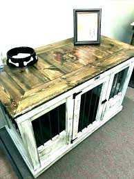 pet crate furniture. Dog Crate Table Furniture Wooden End . Pet