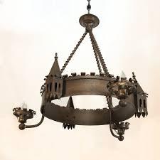 antique gothic wrought iron chandelier