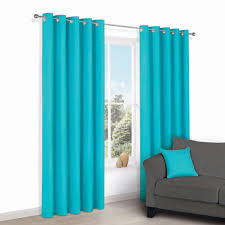 Zen Teal Plain Eyelet Curtains W 167cm L 228cm Teal And Bedrooms