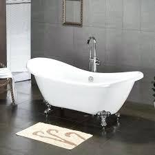 6862 x 285 claw foot slipper bathtubshort clawfoot tub shower curtain short liner