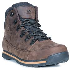 details about trespass jericho men s leather waterproof walking boots brown mid cut style