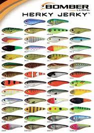 Crankbait Color Chart Bomber Herky Jerky European Color Chart Homemade Fishing