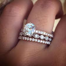 best 25 stacked wedding rings ideas