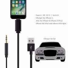 Accguys Araba Aux Kablosu Aydınlatma Için 3.5Mm Jack Premium Yardımcı Ses  Kablo Usb Şarj Kablosu