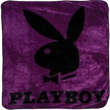 amazoncom playboy  classic bunny purple queen blanket home