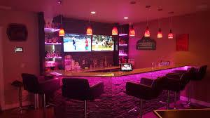 lighting for basement. LED-Strip-Lighting-Basement-Bar (7) Lighting For Basement