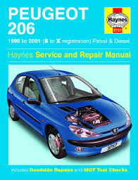peugeot 206 petrol diesel 98 01 haynes repair manual enlarge peugeot 206