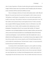 criminology essay population 8