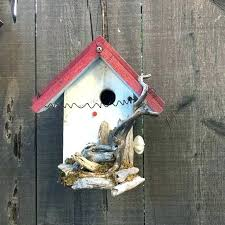 wooden bird houses for rustic wood birdhouse functional unique with natural driftwood house garden art