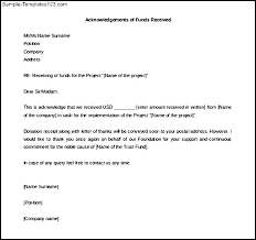 Acknowledgement Of Letter Received Template Acknowledgement Letter Bookmylook Co