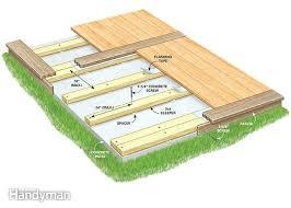 how to build a deck over a concrete patio how to build a deck over a