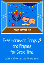 Small Picture Free Hanukkah Songs and Rhymes for Circle Timejpg