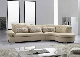 modern vg 125 cream leather sectional sofa