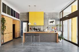 elliot road by klopper and davis architects polished concrete floor