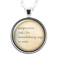 scripturient definition necklace write