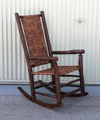 rustic rocking chair pads monumental old hickory high back rocker with open cane weave at rustic rocking chair