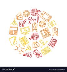Design Thinking Chart Design Thinking Signs Round Design Template