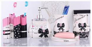 Bathroom Set Fanciful Girl Bathroom Sets Glamour Bath Accessories Set 4  Pieces Girls American Bedroom Clearance