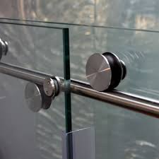 skyline series sky 38 glass three 1 inch rollers free frameless sliding glass shower door
