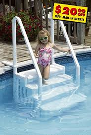 Concept Above Ground Pool Steps Aboveground Easy Entry By Splashnet Throughout Simple Design