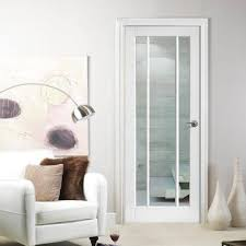white doors with glass. Contemporary Doors Lincoln 3 Pane Door  Clear Glass White Primed For Doors With G