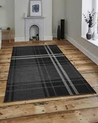 breeze 6639 black grey rug