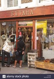 sitara asian furniture shop portobello road london stock photo