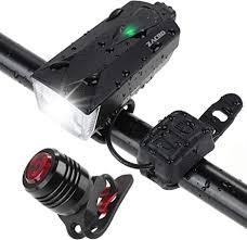 Zacro 310 Lumens 2600mAh <b>Bike Lights</b> Set + <b>Tail Light</b> IPX4 ...