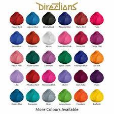 Directions Hair Color Chart Semi Permanent Hair Colour Dye La Riche Directions Best Price Free Uk P P 89ml Ebay