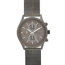 chronograph men debenhams infinite men s dark grey mock multi dial mesh watch