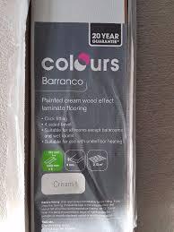 B And Q Laminate Flooring Boards   Barranco Cream X6 Boards (Open Pack)
