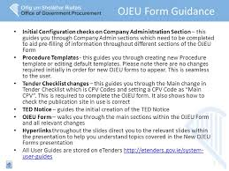 Ojeu Process Chart New Ojeu Standard Forms Key Changes Pre Filling Information