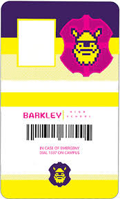 School Id Template Barkley High School Id Card Template Show Tell Rocketjump