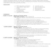 Warehouse Worker Sample Resume Awesome Sample Resume General Manager Administration Laborer Examples