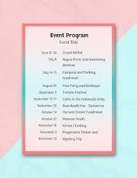 How To Create An Event Program Booklet 39 Sample Event Program Templates Psd Ai Free