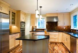 maple kitchen cabinets contemporary. Natural Maple Kitchen Cabinets Dark Counter | For Your Home Designs: Contemporary